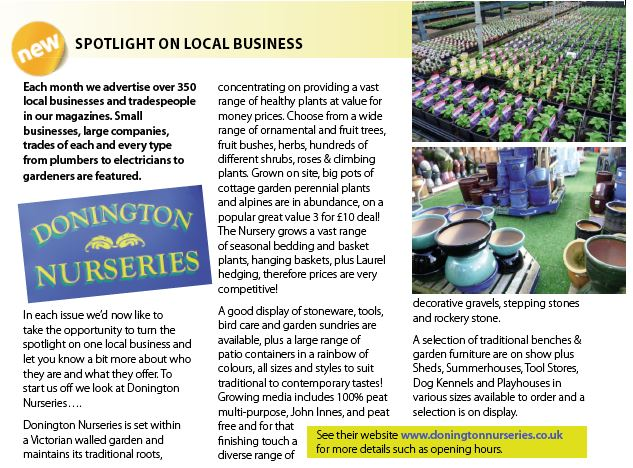 Spotlight on Donington Nurseries
